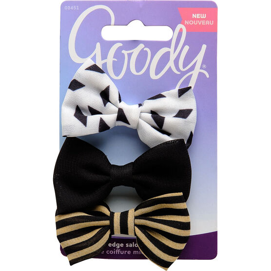 Goody FashioNow Midnight Edge Salon Clips Bowtie - Medium - 8451