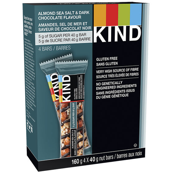Kind Bar - Dark Chocolate Nuts & Sea Salt - Gluten Free - 4 pack/160 g