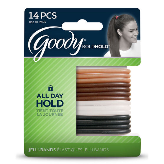 Goody Bold Hold Jelli-Band Extra Hold Elastics - Brown/Black - 14's