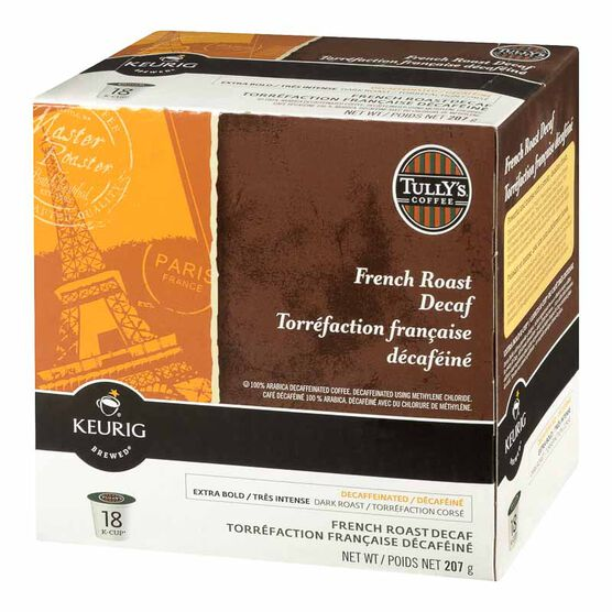 Keurig K-Cup Tully's Decaffeinated Coffee Pods - French Roast - 18's