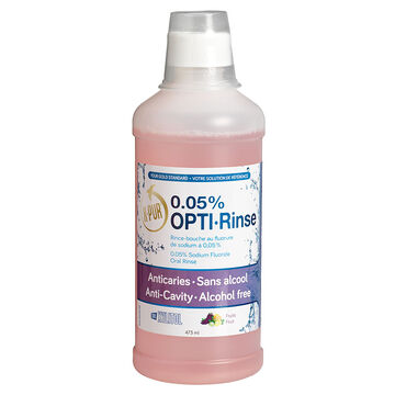 X-Pur Opti-Rinse 0.05% Sodium Fluoride Oral Rinse - Fruit - 473ml