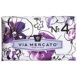 Via Mercato Soap - Violets Magnolia & Amber - 200g