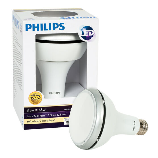 Philips LED BR30 Light Bulb - 9.5w - 65W - Soft White