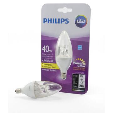 Philips Chandelier B13 LED Small Base Light Bulb - Clear Warm - 4.5w/40w