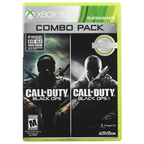 Xbox 360 Call of Duty: Black Ops 1 and 2