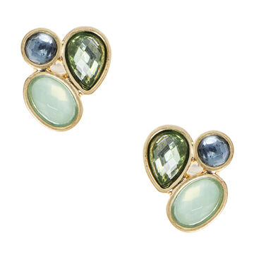 Lonna & Lilly Cluster Stud Earrings - Green