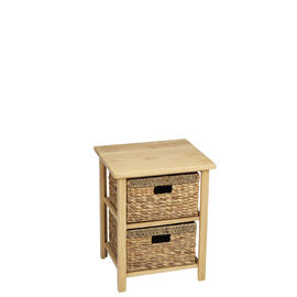 London Drugs Rubberwood Water Hyacinth Drawer - Natural - 2 Drawer