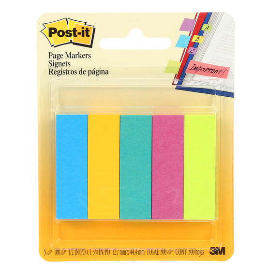 3M Post-it Notes Page Markers - 5 pack