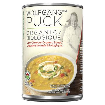 Wolfgang Puck Organic Soup - Organic Corn Chowder - 398ml