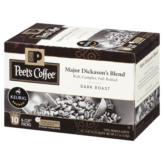 Peet's Coffee Pods - Major Dickason's Blend - 10 servings