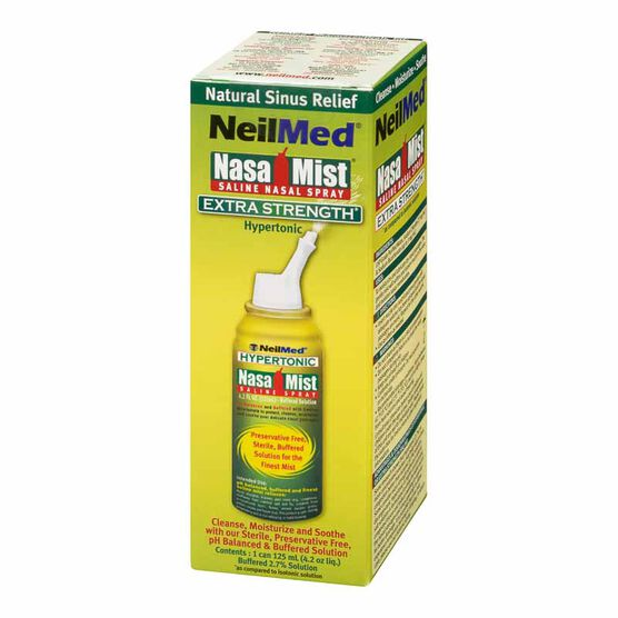 NeilMed NasaMist Extra Strength Hypertonic Saline Spray – 125ml
