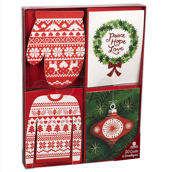 American Greeting Assorted Christmas Cards - Cutouts - 20 pack