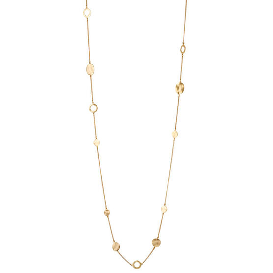 Kenneth Cole Circle Long Illusion Necklace - Gold Tone