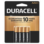Duracell CopperTop AAA Alkaline Batteries - 4 pack