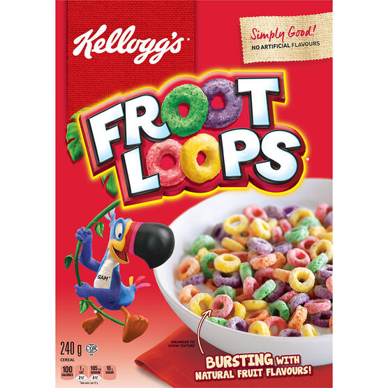 Kellogs Froot Loops Cereal - 240g