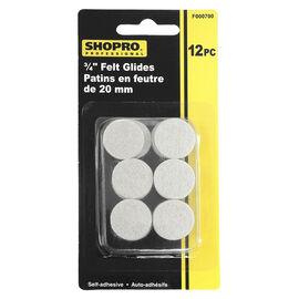 Shopro 20mm Self-Adhesive Felt Glides - 12's