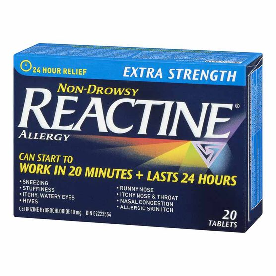 Reactine Non-Drowsy - Extra Strength - 10mg/20's