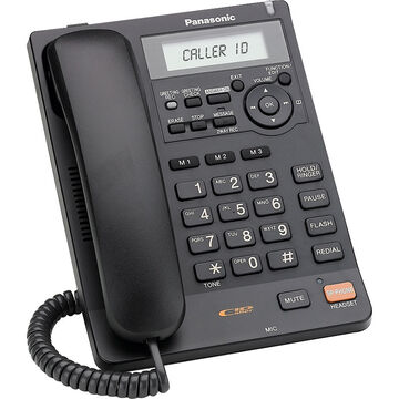 Panasonic Corded Phone with Caller ID & Answering Machine - Black - KXTS620B