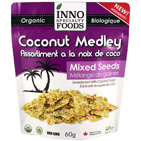 Inno Specialty Foods Coconut Medley - Mixed Seeds - 60g