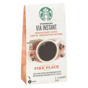 Starbucks Via Pike Place - Medium Roast Coffee - 8's
