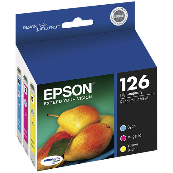 Epson 126 Durabrite Ultra High-Capacity Colour Ink Cartridge - Multi-Pack - T126520-S