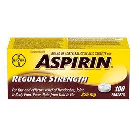 ASPIRIN  Tablets 325mg - 100's