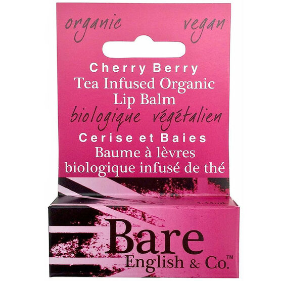 Bare English Tea Infused Organic Lip Balm - Cherry Berry - 4.44ml