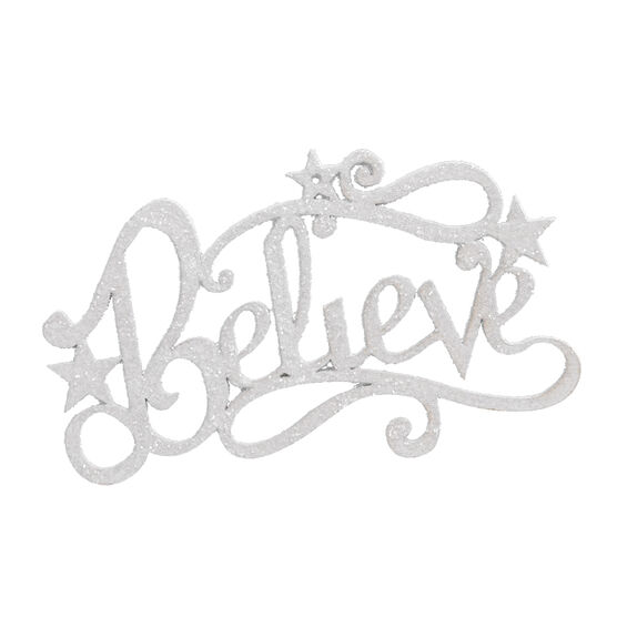Winter Wishes Metal Believe Ornament - 3.6in - XLD6009450FOB