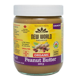 New World Organic Peanut Butter - Crunchy - 500g