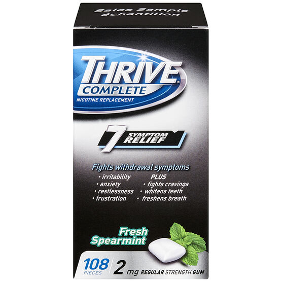 Thrive Complete 2mg Nicotine Replacement Gum - Spearmint - 108's