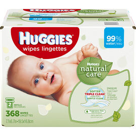 Huggies Natural Care Wipes - 368's
