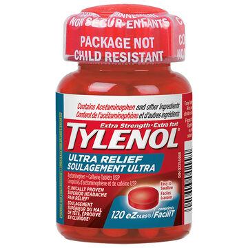 Tylenol* Extra Strength Ultra Relief - 120's