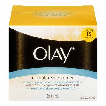 Olay Complete All Day UV Moisture Cream - Sensitive Skin - Fragrance Free - 60ml