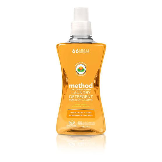 Method 4X Laundry Detergent - Ginger Mango - 1.58L/66 loads