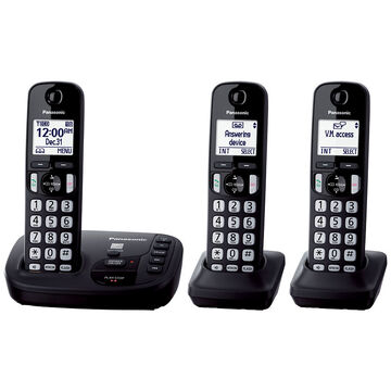 Panasonic Expandable Digital Cordless Answering System with 3 Handsets - KX-TGD223B