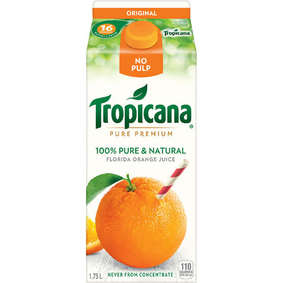 Tropicana Pure Premium Original Orange Juice -  1.75L