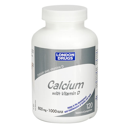 London Drugs Calcium with Vitamin D - 600mg/1000iu - 120's