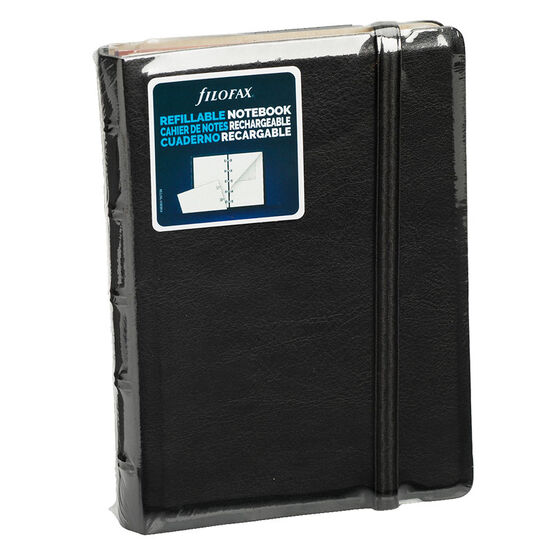 Filofax Refillable Pocket Notebook - Black - 112 Pages