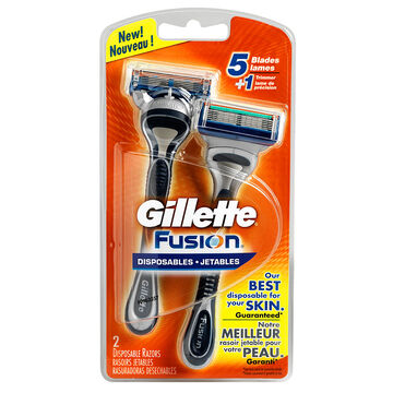 Gillette Fusion Disposable Razors - 2's
