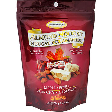 Golden Bonbon Crunchy Almond Nougat - Maple - 70g