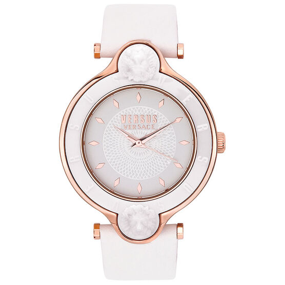 Versace Versus New Logo Ladies Watch - White/Rose Gold - SCF070016