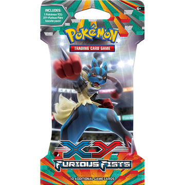 Pokémon XY3 Sleeved Booster - Furious Fists