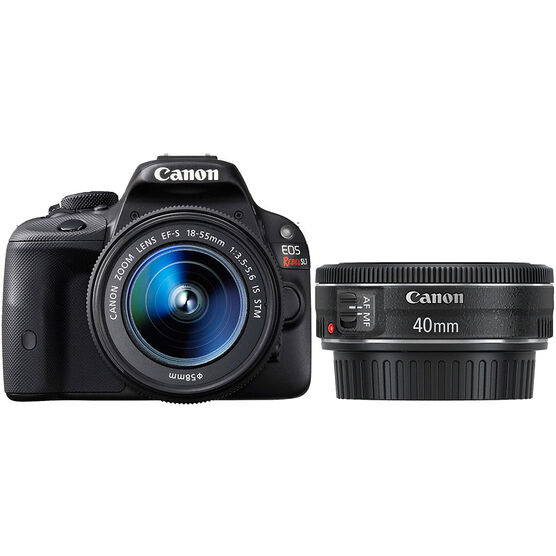 Canon EOS Rebel SL1 w/18-55mm IS Lens and EF 40mm f2.8 STM Lens