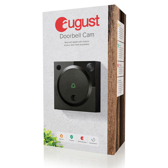 August Doorbell with Camera - Dark Gray - AUG-AB01-M0