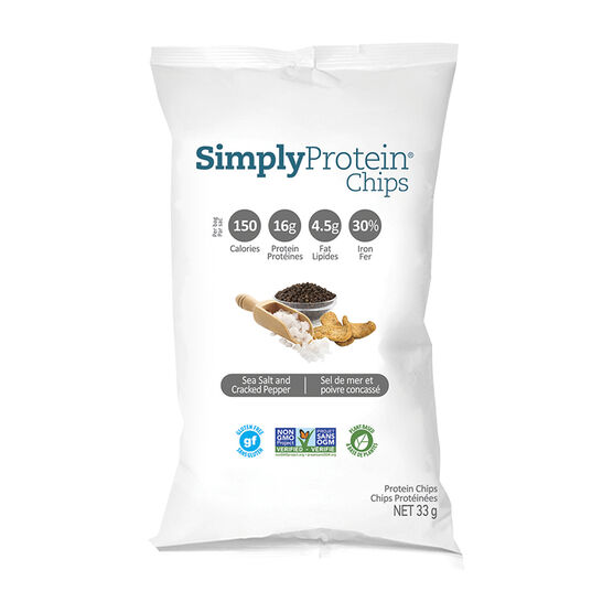 SimplyProtein Chips - Sea Salt & Cracked Pepper - 33g