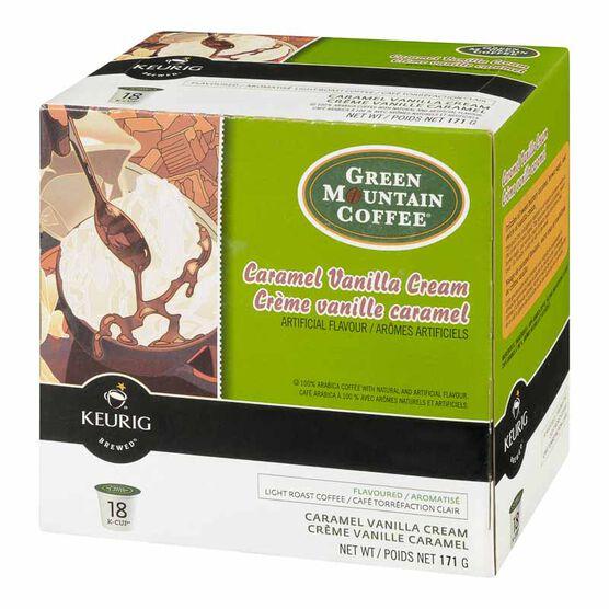 Keurig K-Cup Green Mountain Coffee Pods - Caramel Vanilla - 18's
