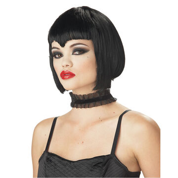 Halloween Va Va Vamp Wig - Black