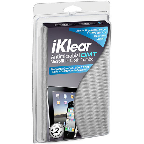 iKlear DMT Antimicrobial Microfiber Cloth Kit - IK-DMT