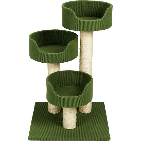 London Drugs Green Cat Tree - 3 Level