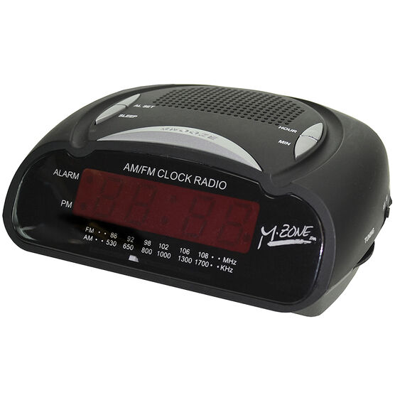 HRS AM/FM Alarm Clock - Black - RA42885